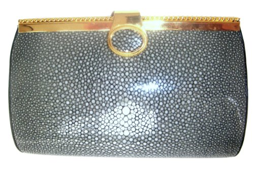Renee Gd – Genuine Polished Stingray Skin Clutch Handbag