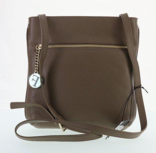 Furla Julia Pebbled Leather Cross Body Shoulder Bag (Daino 003)