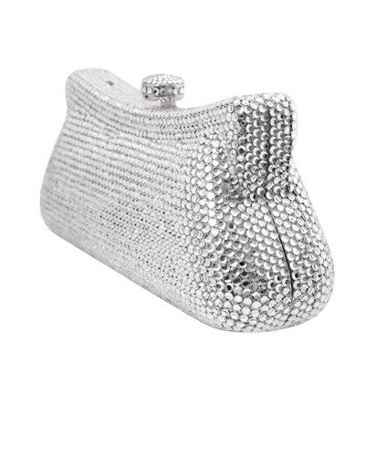 Swarovski Crystal Elements 389 Silver with Glass Evening Handbag