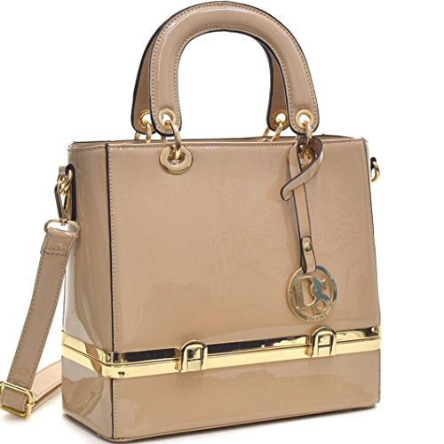 Dasein Faux Leather Satchel Shoulder Bag Handbag with Hidden Compartment