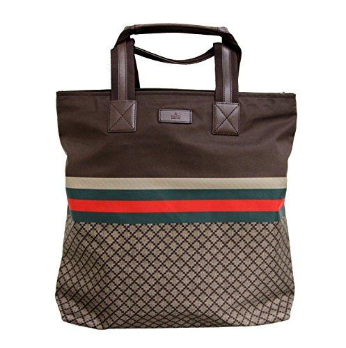Gucci Brown Nylon Unisex Diamante Tote Travel Bag 268112