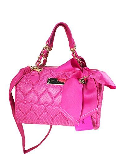 Betsey Johnson Be Mine Medium Speedy Handbag Pink