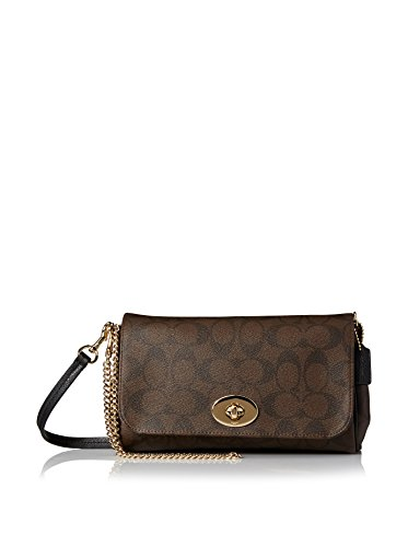 Coach Signature Mini Ruby Crossbody in Brown PVC