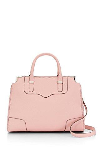 Rebecca Minkoff Amorous Satchel Handbag in Primrose/silver