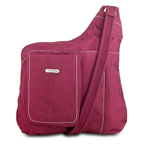 Travelon 313734 Anti-Theft Cross Body Bag-Bordeaux