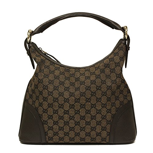 Gucci Brown Canvas and Leather Hobo Shoulder Bag 289715