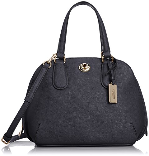 Coach Crossgrain Leather Prince Street Mini Satchel Handbag 34940 Navy Blue