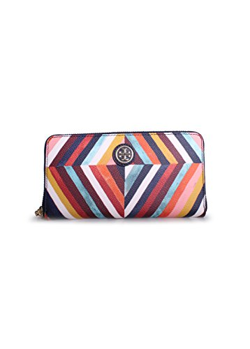 Tory Burch Kerrington Zip Continental Wallet in Diamond Combo A
