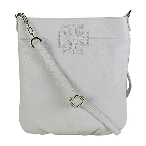Tory Burch Stacked T Book Shoulder Bag (Ivory)