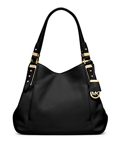 MICHAEL KORS Bowery Leather Large Shoulder Handbag – Black
