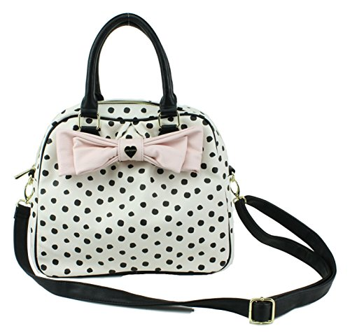 Betsey Johnson Polka Dot Dome Satchel Handbag Multi