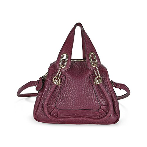 Chloe Paraty Small Leather Satchel Handbag – Wild Purple
