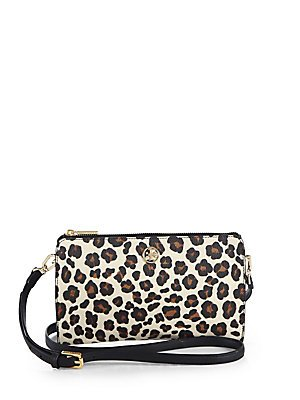 Tory Burch Robinson Printed Crossbody in Ocelot Leopard