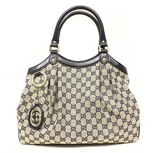 Gucci Sukey Guccissima Tote, Navy Medium Handbag