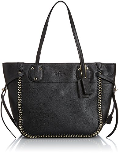 Coach Tatum Tote in Whiplash Leather – Black