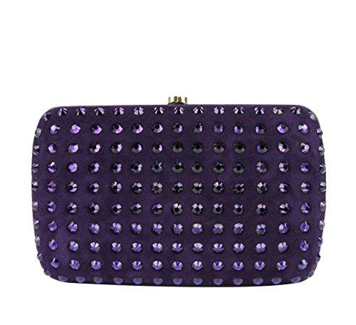 Gucci Ladies Purple Broadway Suede Clutch Bag 310005 5162