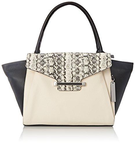Vince Camuto Julia Top Handle Bag, Ivory/Black, One Size