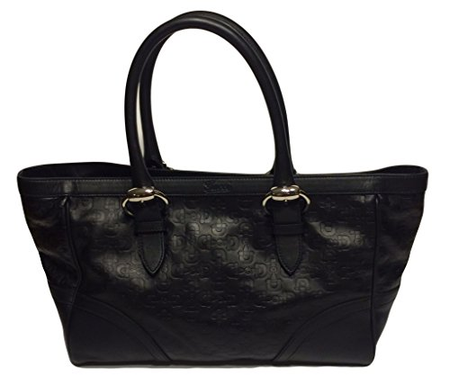 GUCCI GG Black Leather Tote Bag Limited Edition 289716