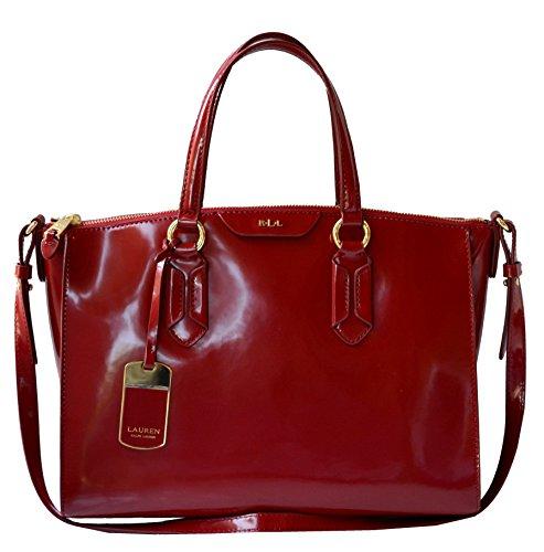 LAUREN Ralph Lauren Winford SP Convertable Satchel Handbag Purse Vermillion