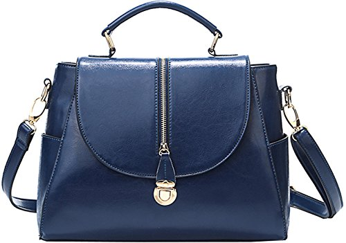 Heshe® New Lux Fashion Genuine Leather Tote Top Handle Hobo Shoulder Bag Cross Body Purse Satchel Handbag Messenger Bag For Women