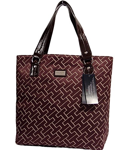 Tommy Hilfiger Logo Tote Bag (Brown / Beige)