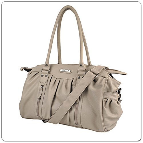 VANCHI Doctor Bag, Baby Diaper Bag – Nougat/Cocoa