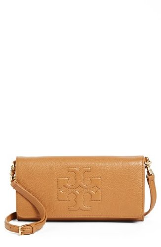 Tory Burch Mini Thea Foldover Crossbody in Royal Tan