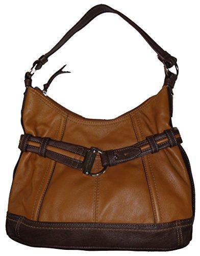 Tignanello Purse Handbag Leather Statement Satchel Frappe