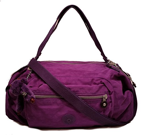 Kipling Jessa Tile Purple Convertible Satchel Handbag