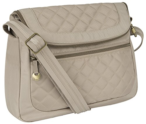 Travelon Anti-Theft Quilt Convertible Bag with RFID Wallet – Champagne