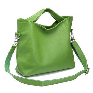 Ilishop Women's Green Tote Handbag Genuine Leather Shoulder Bag NB060-green