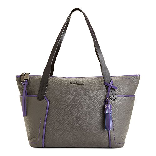 Cole Haan Parker Small Zip Top Shopper, Grey/Purple