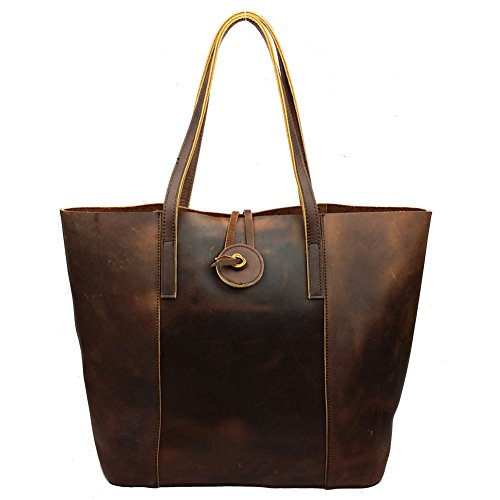 CLJ®New Vintage Cow Leather Tote Handbags Purses Shoulder Clutch Hobo Bag