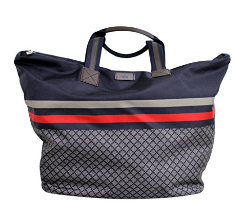 Gucci Xl Multi Color Nylon Unisex Diamante Tote Travel Bag 268106 8611