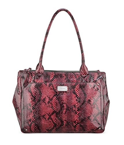 Nine West Double Vision Carryall Satchel Bag Handbag (Dark Cranberry)