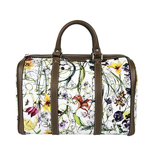 Gucci Ladies Floral Canvas Satchel Joy Boston Bag 247205 9086