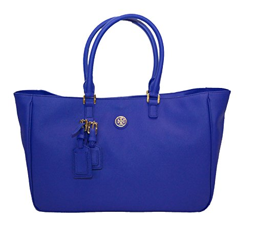 Tory Burch Roslyn Tote Big Pocketbook Royal Ocean Blue