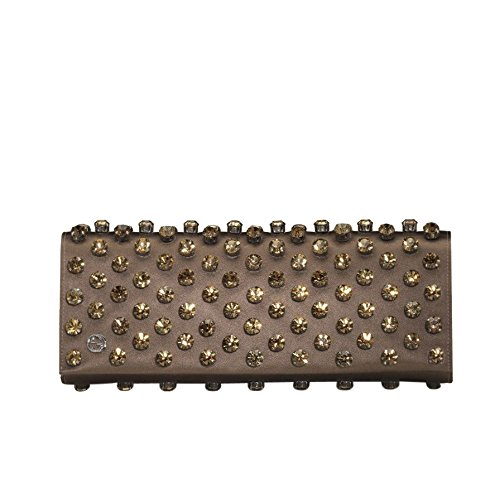 Gucci Brown Swarovski Crystals Broadway Satin Clutch 339239 2865