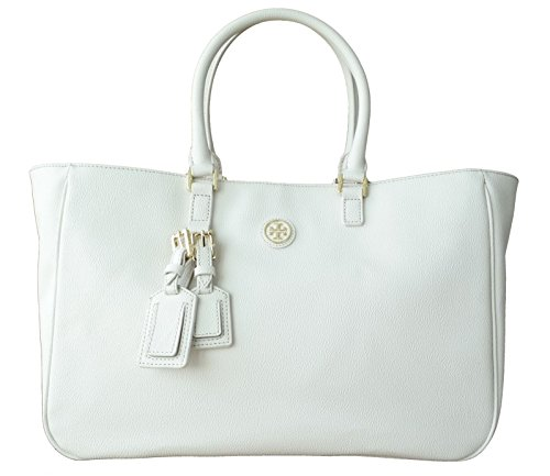 Tory Burch Roslyn Tote Big Pocketbook Bleach