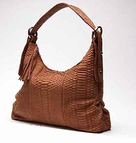 CIAMPI by Gazzelle Ciampi Luxury Curtis Python Skin Hobo Bag