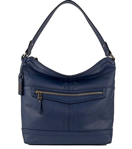 Tignanello Pretty Pockets Sailor Blue Leather Hobo Bag