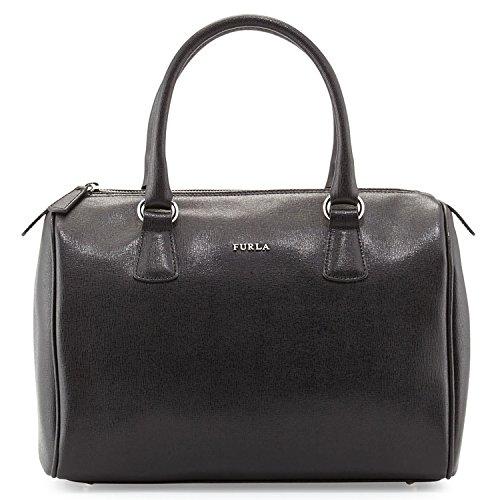 Furla D-Light Saffiano Leather Medium Top Handle Satchel, Onyx