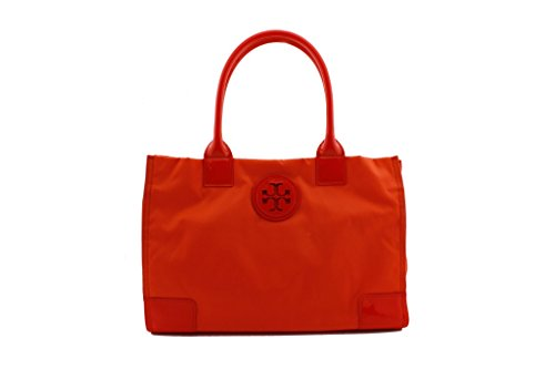 Tory Burch Mini Nylon Ella Tote Electric Orange