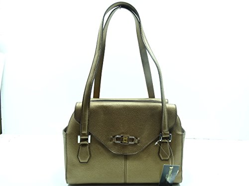 Tignanello All Day Long Satchel Leather Brown Metallic Color