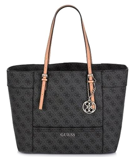 GUESS Delaney Women's Large Tote Bag, Coal
