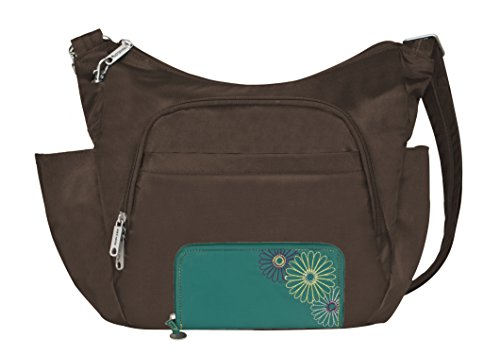 Bundle — Travelon Anti-Theft Classic Crossbody Bucket Bag and Safe ID Daisy Wallet