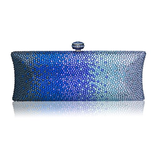 Blue Ombré Crystal Clutch