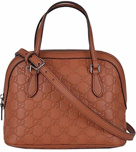 Gucci Women's GG Guccissima Saffron Leather Convertible Mini Dome Purse