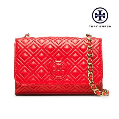 Tory Burch Marion Quilted Shrunken Shoulder Handbag Leather New
