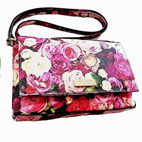 New Kate Spade Sally Grant Street Floral Cross Body Handbag Rose print Small Clutch Purse